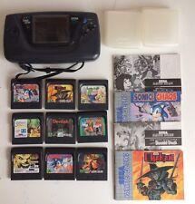 Game Gear Colección Paquete Trabajo Lote Sonic Funcionando! Hulk Chakan AX diabólica Sega