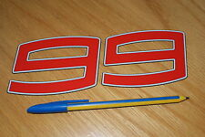 Lorenzo 99 Race Number - (Bright Red)