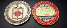 challenge coin  CENTRAL INTELLIGENCE AGENCY  DONALD TRUMP 2 INCH box