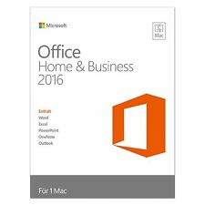 Microsoft Office Home & Business 2016 - für MAC - Deutsch - inkl. DVD - NEU