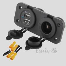 Adaptateur Double Prise USB Allume Cigare Chargeur 12V Pour Camion Voiture