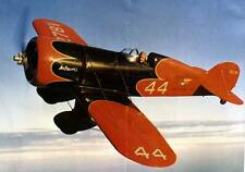 Old Photo.  Red/Black Wedell-Williams Racer #44 Airplane