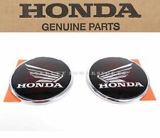 Chrome Tank Emblems Set Honda Wing Cafe Bobber CB DN-01 CTX Badges (Notes)#F17 D