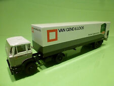 LION CAR 69 36 DAF 1900 TURBO TRUCK + TRAILER - VAN GEND & LOOS - 1:50 - VG