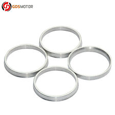 Set of 4 Wheel Hub Centric Rings Alloy Aluminum OD=73.1mm To ID=66.1mm Hubrings