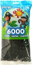 Bulk Buy:6,000 Perler Black Color Iron On Fuse Beads: 80-11092