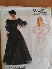 Vogue 1049 sassoon evening dress sewing pattern taille 6 8 10 ou uk buste 34 36 38