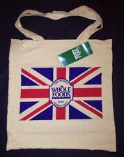Whole Foods Piccadilly Circus Bag London Union Jack Reusable Tote UK New Cotton