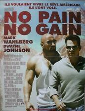 NO PAIN NO GAIN Affiche Cinéma / Movie Poster MARK WAHLBERG Dwayne Johnson