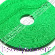 43 yds Organza Ribbon 6 mm 1/4 In Bright Green Sewing Fabric Trimming 40 m 5266