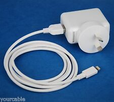 12W AC Wall Charger+2M USB Cable WHITE 4 iPad Air 2 mini 3 iPhone 6s 6 Plus 5s 5