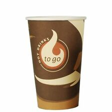 "1000 Papp Trinkbecher ""To Go"" 0,4 l Party Einwegbecher Kaffeebecher"