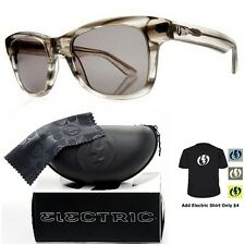 NEW Electric Visual Detroit Chester Grey  Mens Square Sunglasses Msrp$130