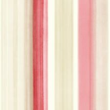 Riviera Opera by Arthouse Striped Wallpaper in Watercolour Red Mocha / Cream