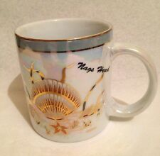 NEW ERCO LUSTRE PEARL NAGS HEAD SOUVENIR TRAVEL MUG CLAM SHELL GOLD GILT CUP