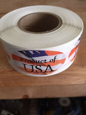 "1.25"" X 2"" PRODUCT OF USA LABELS 500 PER ROLL GREAT STICKERS"