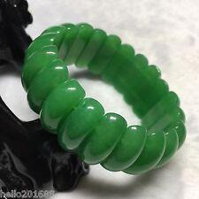 """Certified Grade """"A"""" Natural Green Jadeite Jade Gems Bracelet Bangle"""