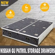 NEW Nissan GU Patrol  4WD Storage Drawers Fridge Slide Rear Drawer Steel Frame