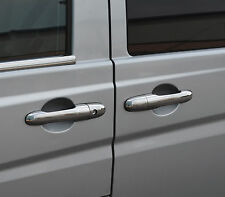 CHROME DOOR HANDLE TRIM SET COVERS 03+ W639 STEEL FOR MERCEDES BENZ VITO VIANO