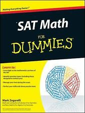 Sat Math for Dummies by Consumer Dummies Staff and Mark Zegarelli (2010,...