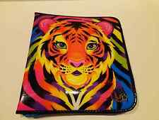 Rare! Lisa Frank Tiger Zipper Notebook 3 Ring Binder with Mirror -Free Shipping!