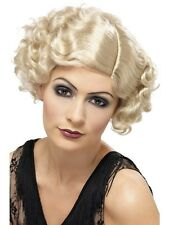 Adult Blonde Flapper Wig Curly 1920s 20s Charleston Fancy Dress Costume 42003
