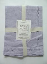 """Williams Sonoma Double Hemstitched Linen Table Runner Lavender 16"""" X 108"""" NWT"""
