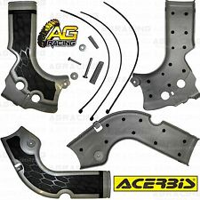 Acerbis X-Grip Grey Frame Guards Protectors Honda CRF 250R 2014-2015 Enduro New