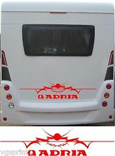 ADRIA LARGE MOTORHOME/CARAVAN REAR VINYL GRAPHICS DECALS CHOICE OF COLOURS #1