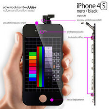 TOUCH SCREEN + LCD RETINA IPHONE 4S NERO (DISPLAY COMPLETO PREASSSEMBLATO)