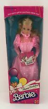 Vintage 1983 Birthday Barbie Doll #1922 NRFB NEW NIB 80's Mattel Superstar Era