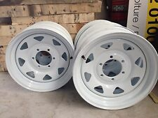 16x6. 6 STUD LANDCRUISER WHITE SUNRAYSIA STEEL WHEEL Trailer Replace Split Rims