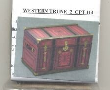 Lithograph Wooden Trunk Kit Western dollhouse miniature 1/12 scale CPT114 - USA