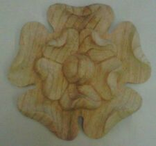 Wooden Hand Carved Rose  in pine wood, (431) 1 Piece