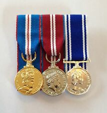 Court Mounted Miniature Medals, Golden, Diamond Jubilee, Police LSGC, Mini