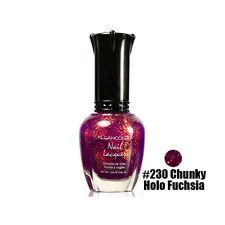 1 Kleancolor Nail Polish Lacquer #230 Chunky Holo Fuchsia Manicure