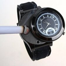 New Black Windproof  Men's Cigar Lighter USB Electronic Rechargeable Wristwatch
