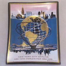 1964-65 New York World's Fair ~ NYC Skyline Glass Tray by Houze Art