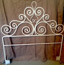 VINTAGE TWIN SIZE SOLID WROUGHT IRON DECORATIVE HEADBOARD - EXC COND