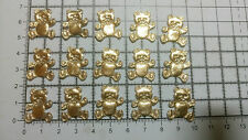 15pcs.Iron on / Sew on Teddy Bear Motif forTrimming,Appliques Multicolour