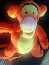 "Disney Winnie the Pooh Tigger Tiger Backpack Stuffed Animal Plush 14"" Resort bag"