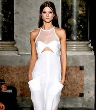 AUTH NEW STUNNING EMILIO PUCCI WHITE SILK & NET DRESS, SZ IT44 /UK10