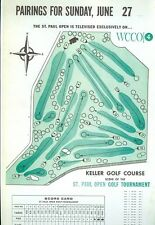 1965 St. Paul Open Golf Tournament Sunday Pairings Sheet Ray Floyd 2nd Pro Win
