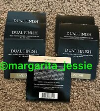 LANCOME DUAL FINISH POWDER  & FOUNDATION 220 BUFF II QTY 7 One Time Use SAMPLES