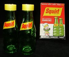 NOS Vintage SQUIRT Glass Bottle Salt & Pepper Shakers 1970's Made In Mexico