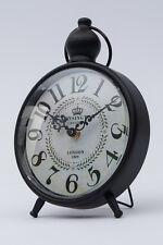 Tischuhr Vintage Rahmen schwarz London Uhr Retro