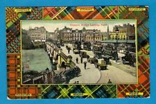 Vintage Postcard - Glasgow Bridge: with Corporation Trams - Milton: Posted 1907