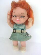 "Vintage Holiday Fair 1963 Vinyl Doll 8"" Redhead Freckles Laughing Hong Kong"
