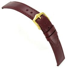18mm Hirsch Osiris Genuine Leather Padded Mens Bordeaux Watch Band Strap