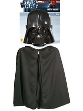 Child Licensed Star Wars Darth Vader Cape & Mask Set Costume (Standard) Kids BN